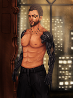 Adam Jensen by Maszrum
