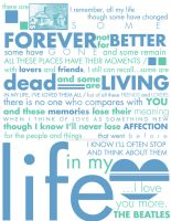 Typography - IN MY LIFE by cafe-lalonde