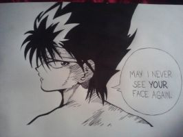 Hiei Drawing by Hieiskittygirl