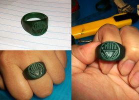 Wax Black Lantern Ring by shoxnoia