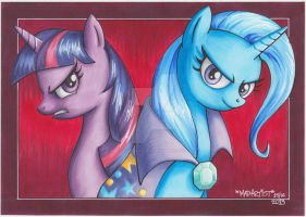 Twilight and Trixie by Doks-Assistant