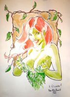 Poison Ivy con sketch by qualano