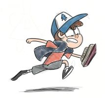 Run for it, Dipper! by timsplosion