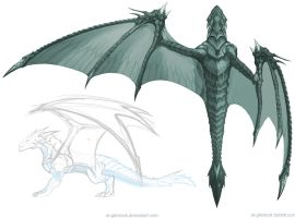 Dragon concept 3 : Wing by el-grimlock