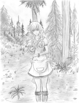 Corinne in the Aether Forest by StarGGundam2