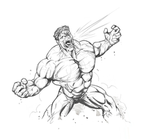 Hulk by Scribbletati