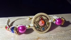 Sailor Moon Pyrography Bracelet by designbywho
