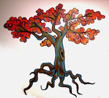 Tree Wall Mural by ConcreteFeather