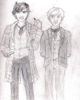 Sherlock Holmes and Doctor Watson by thewaywardsoldier