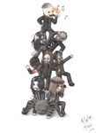 Slipknot Chibi Tower by hemophobianessticity