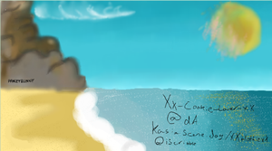 iScribble Beach by Xx-Cookie-Lover-xX