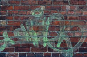 Graffiti on Brick Wall by KameleonKlik