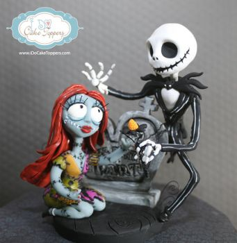 Nightmare Before Christmas Cake Topper by Christina-Patterson