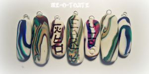 Colour Clay Name Charms by Me-O-Tojite