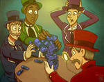 Top Hats and Jenga - Commish 2/2 by SP85