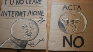 AntiACTA meme signs by poly-m