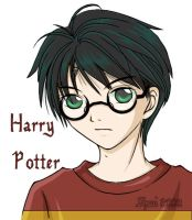 14 year old Harry Potter by shuui