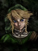 A portret of Link by Ruth-Tay