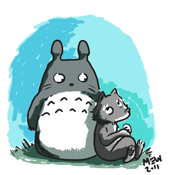 Totoro and me by MEWZILLA