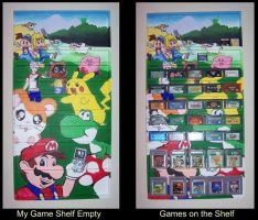 Gameboy Game Shelf by LMColver