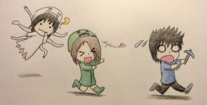 Siblings and Minecraft by 473No-Life