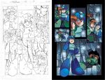 Mega Man 22 pg16 pencil and colors by RyanJampole