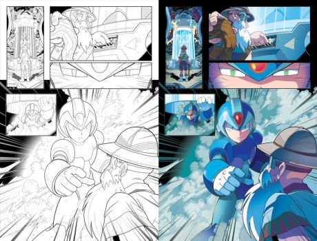 Behold, X (Mega Man 34 - Pg 18) by herms85