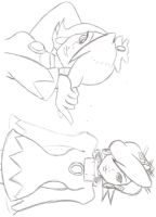 White Mage Sketches by AEIFS