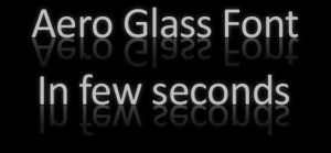 Aero Glass Font by tomasmanrique200