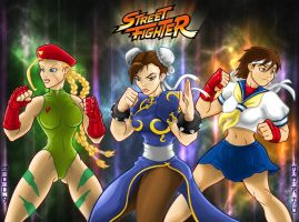 Street Fighter girls by mARTu-Mandy