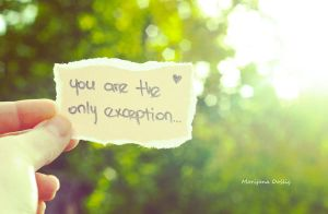 The Only Exception by 2cool2care