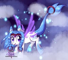 Jumping in clouds by Anira-the-Fox