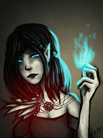 Elf Mage by camibee
