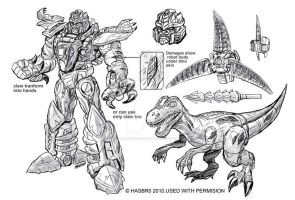 Universe Dinobot Concept art by MarceloMatere