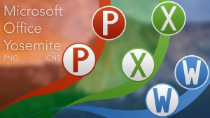 Microsoft Office Yosemite Icons by mp03095