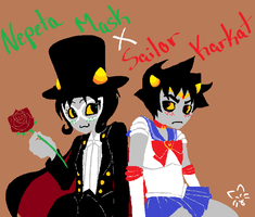 Nepeta Mask X Sailor Karkat by ChanChanLee