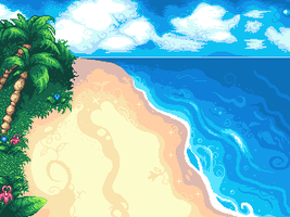 Tropical Beach by OceansDream