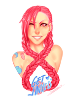 Jinx with Pink hair? by IkebanaKatsu