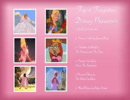 Top 6 Forgotten Princesse by Cookie-Lovey