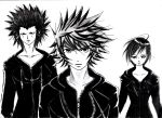 Axel, Roxas and Xion by lyonnickson