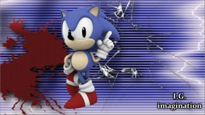 Classic Sonic - Wallpaper - 1 by I-G-imagination