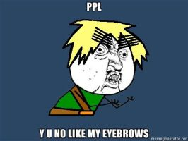 Y U NO LIKE ENGLAND'S EYEBROWS by ParamourxLights