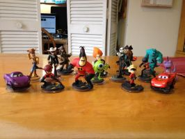 Disney Infinity Collection So Far 2: Figures by shadowdelta47