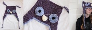Woolly Owl Hat by bicyclegasoline