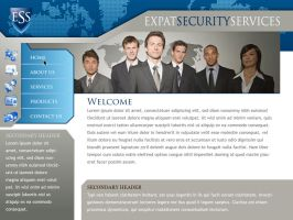 Website for Security Co. by montgomeryq
