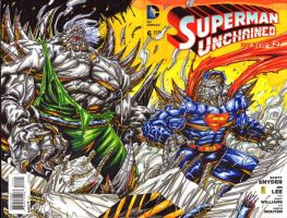 Superman Unchained colore sketch cover (FOR SALE!) by warpath28