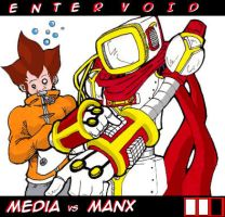 Manx vs Media by bestsketch