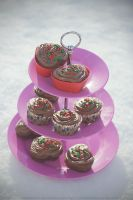 Peppermint Cupcakes by victimofemotion
