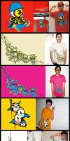 5 shirt designs by chapolito
