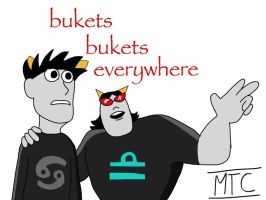Buckets bukets everywhere by Merlinathecat